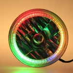 123MM CRYSTAL METAL  W/ CHASING SMD LED HALO  RING  WITH DRICERS, BLUETOOTH CONTROLLER